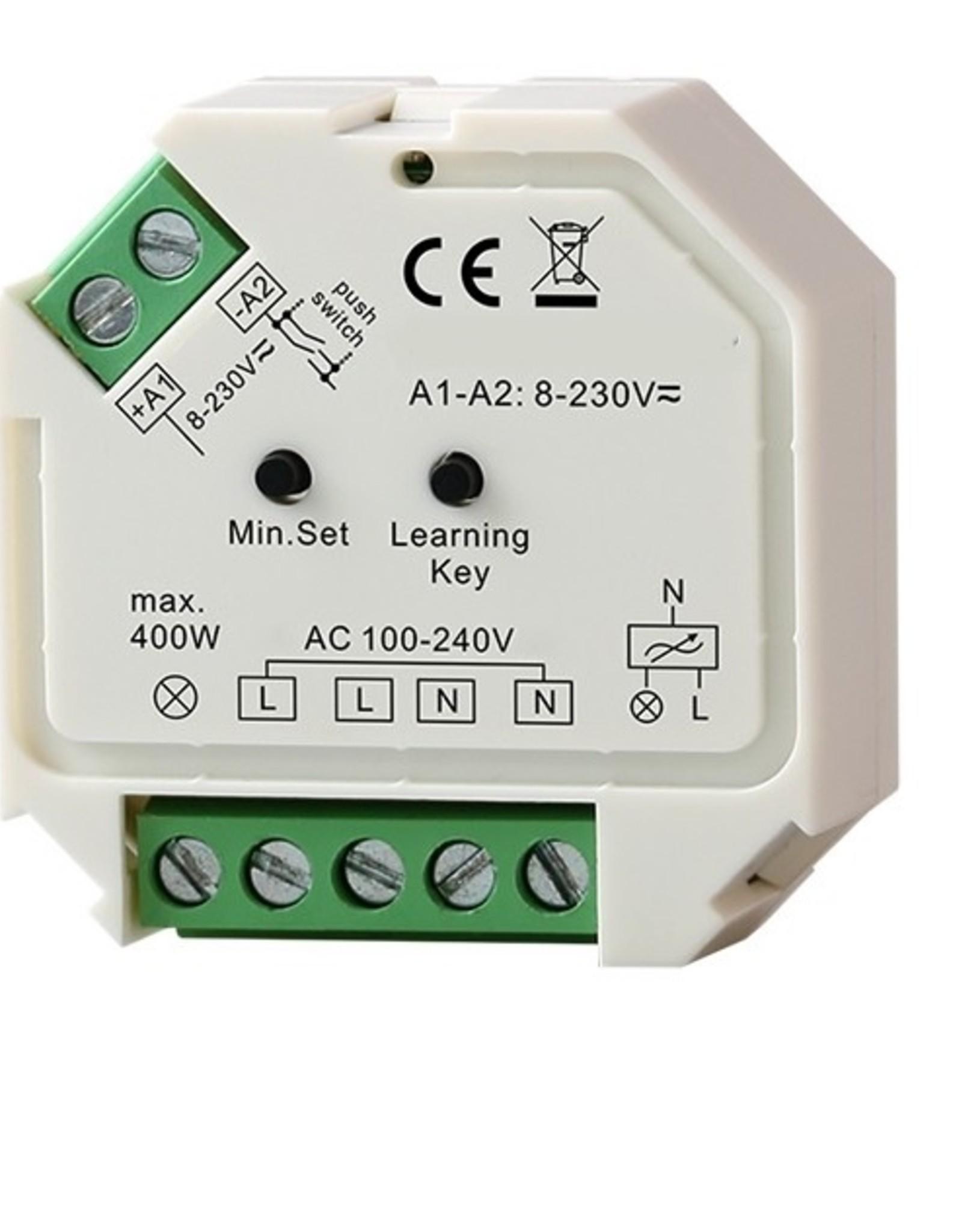 LedLed Led Dim unit AC230V 200W incl. puls. t.b.v. afstandsbedieningen.