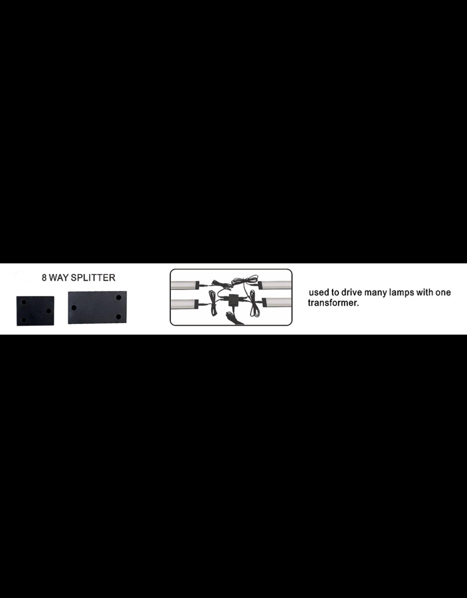 LedLed HP en Flat - 8-way Splitter Zwart