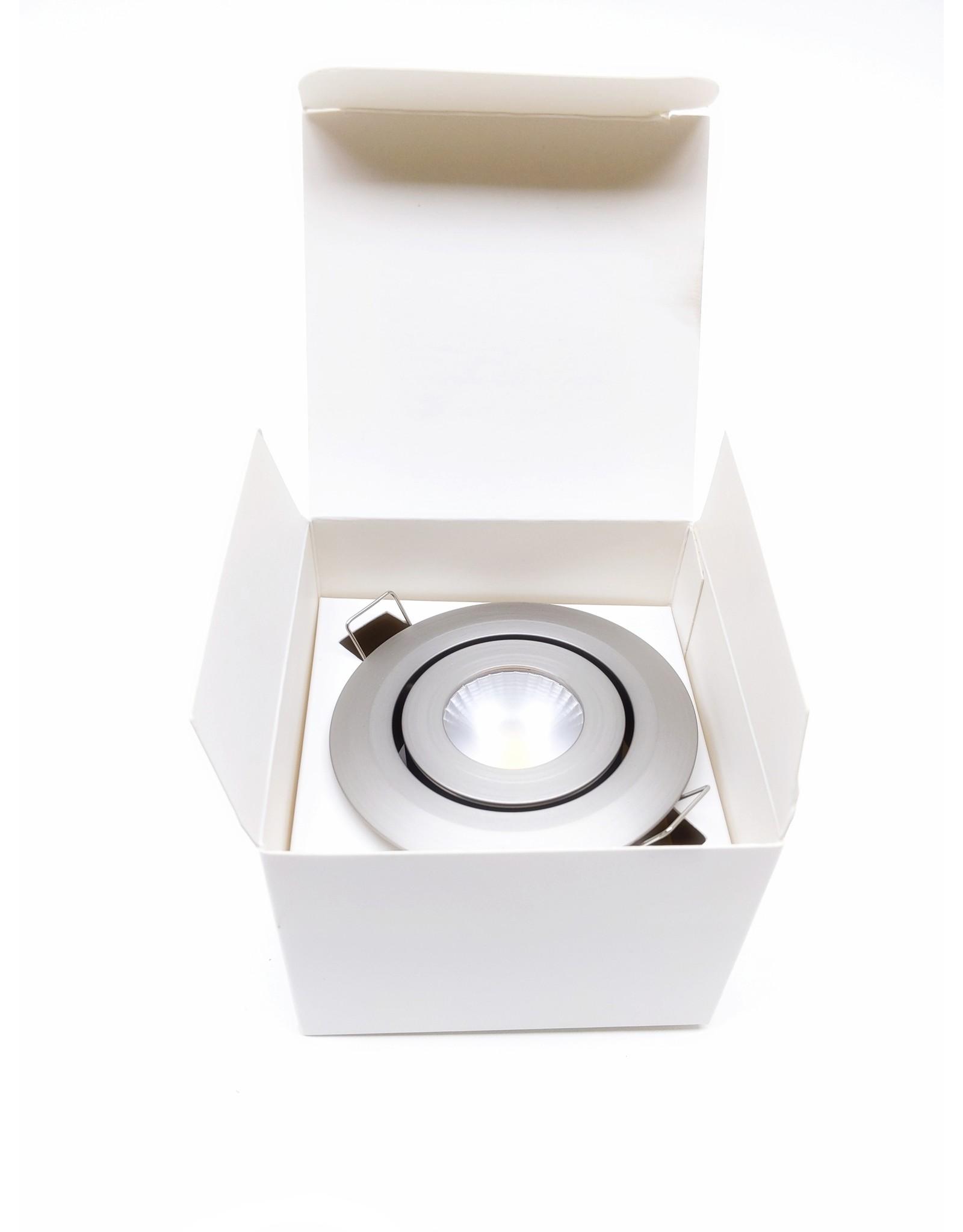 LedLed Izzy LED Kantelspot Rond RVS-Matt Dim to Warm