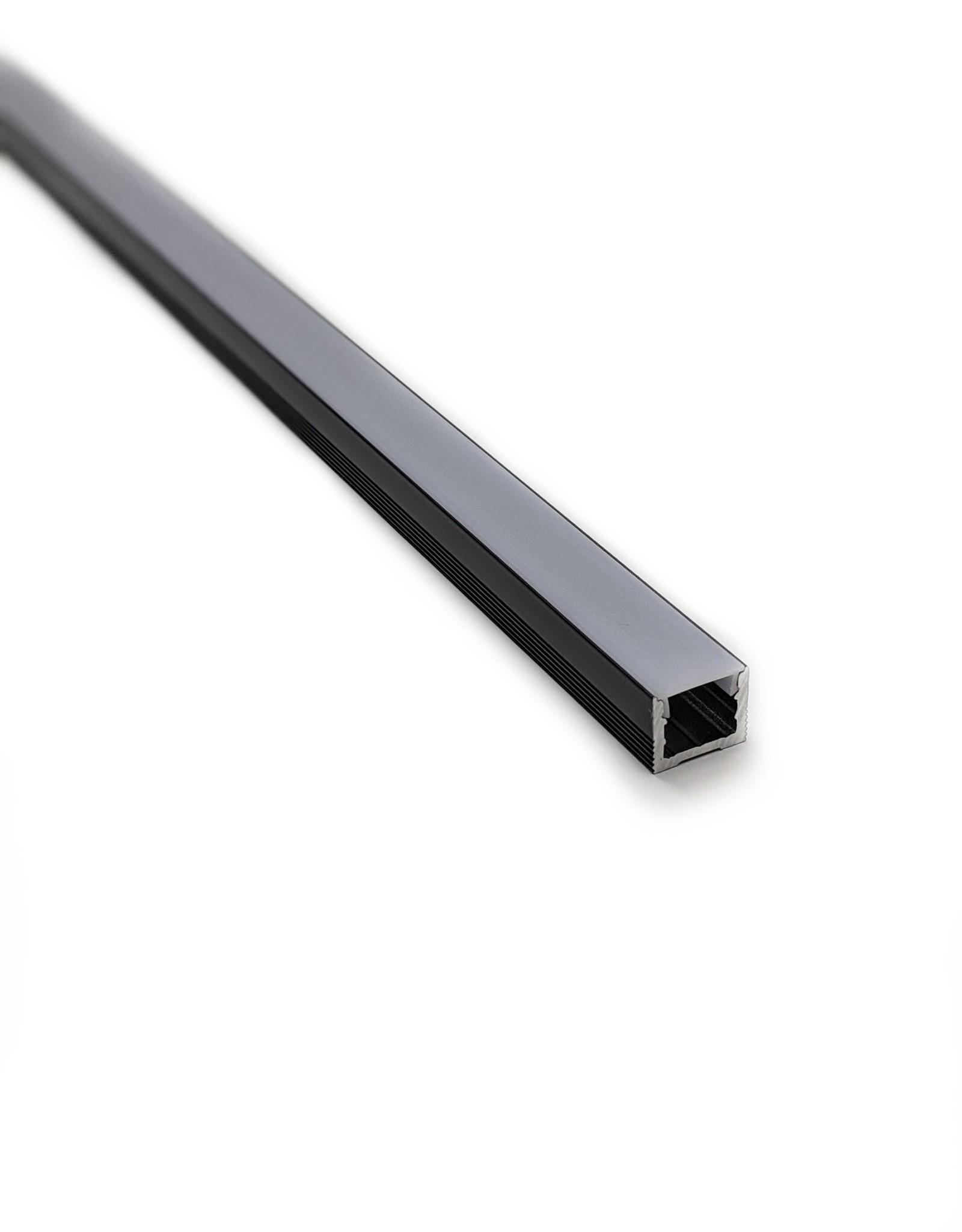 LedLed Aluminium opbouw profiel zwart 16mm