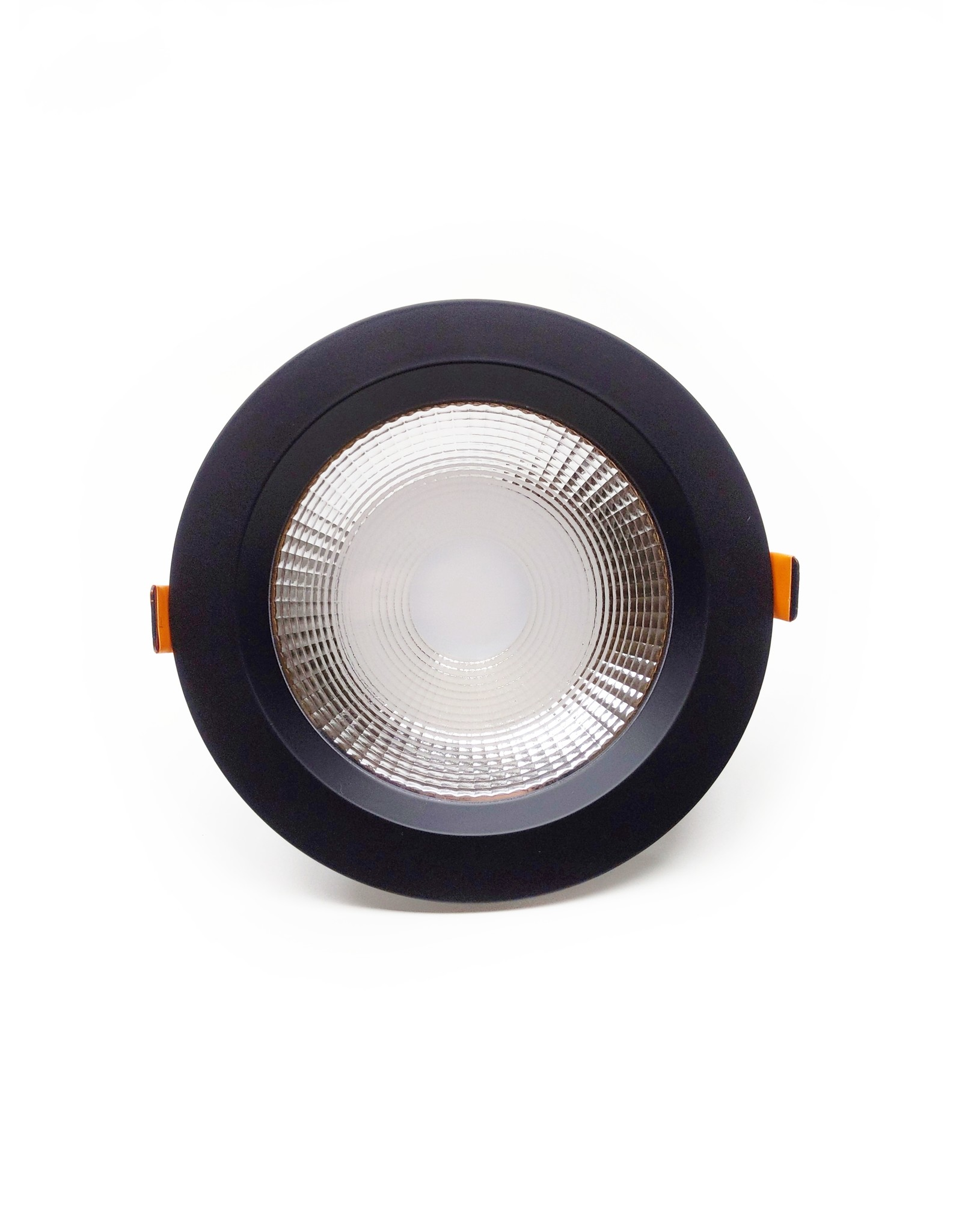 LedLed Geled Downlight Helder ZWART 3000k 190mm 8-20W