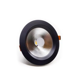 LedLed Geled Downlight Helder ZWART 4000k 190mm 8-20W
