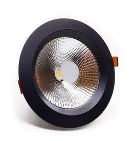 LedLed Geled Downlight Helder ZWART 4000k 230mm 8-35W