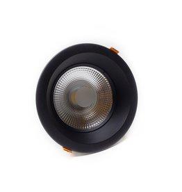 LedLed Glare Dowlight ZWART 3000k 145mm 8-12W