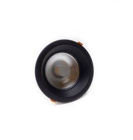 LedLed Glare Dowlight ZWART 4000k 145mm 8-12W