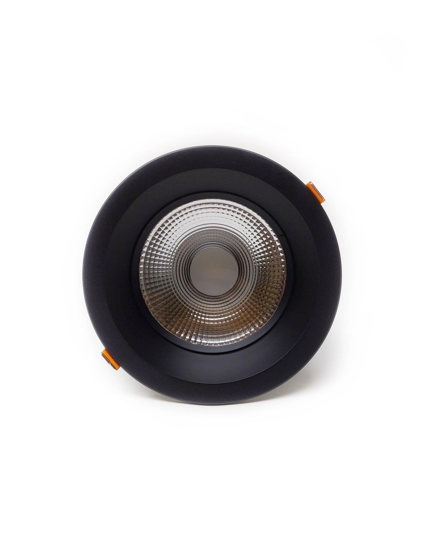 LedLed Glare Dowlight ZWART 4000k 145mm 8-12W gatmaat 125mm