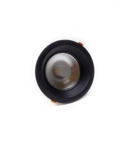 LedLed Glare Dowlight ZWART 3000k 192mm 8-20W