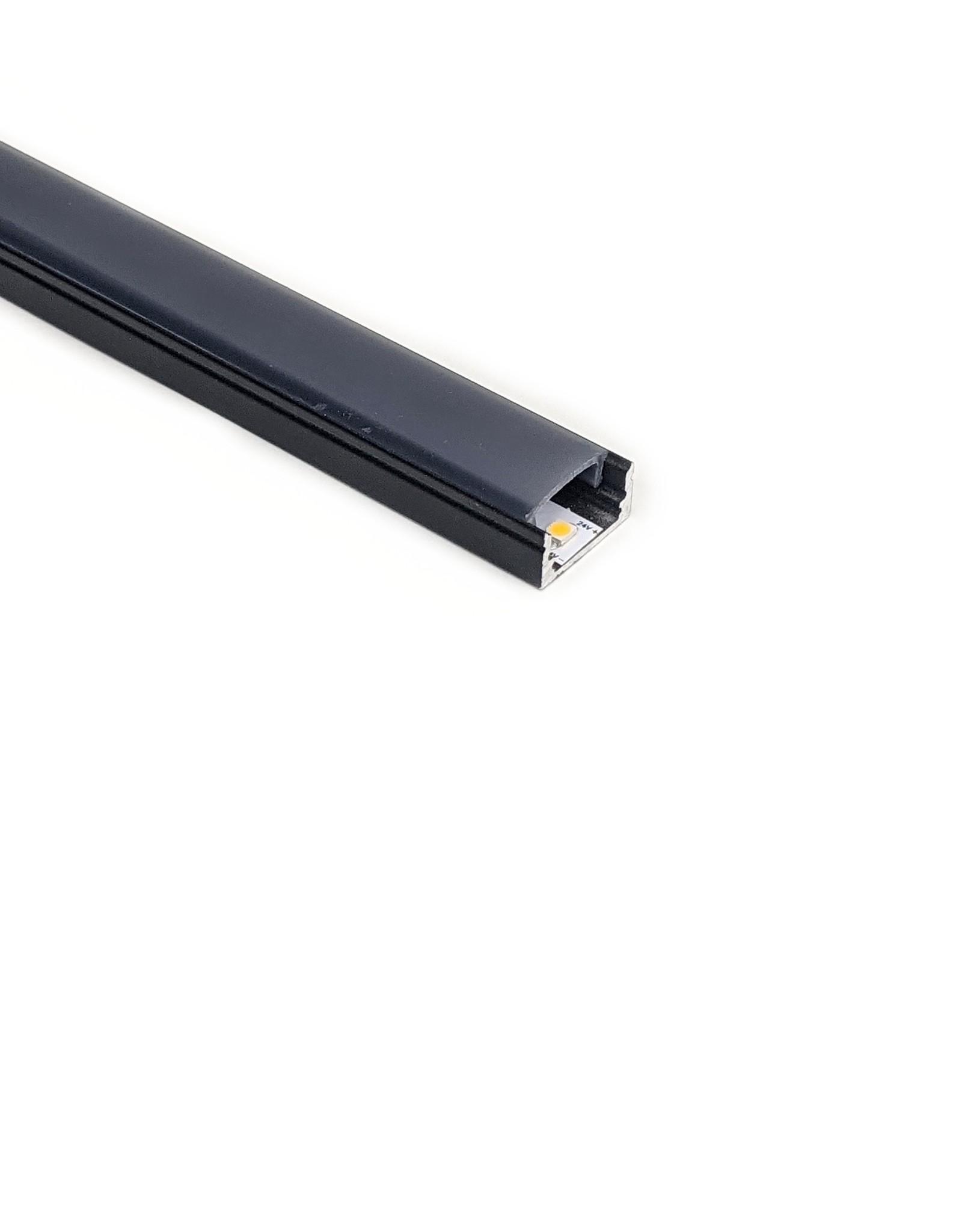 LedLed Aluminium in- en opbouw profiel zwart 7mm - PRO