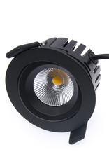 LedLed Tonny LED Kantelspot Rond Zwart 2700k Dimbaar