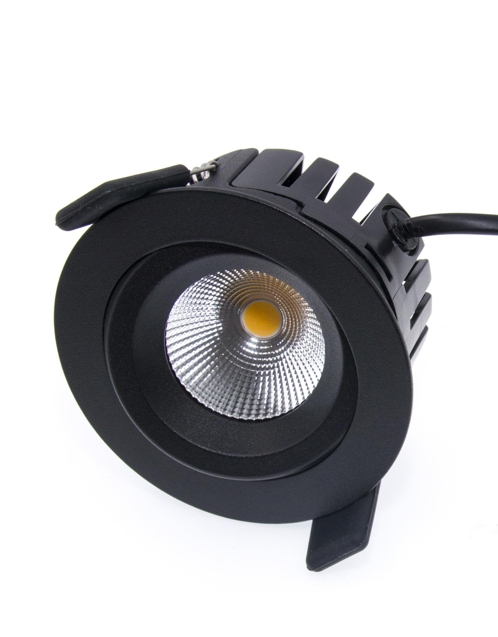 LedLed Tonny LED Kantelspot  Rond Zwart 1800-3000k