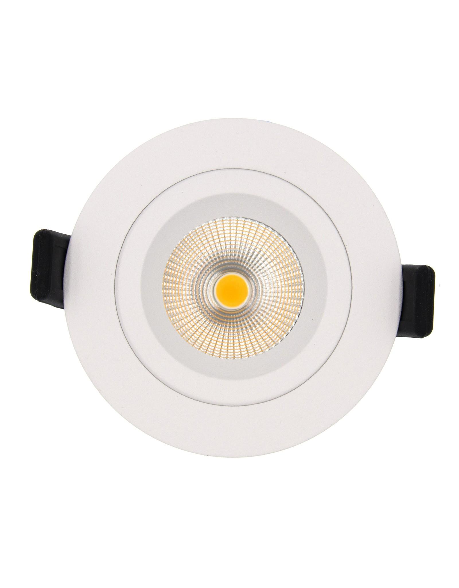 LedLed Tonny LED Kantelspot Rond Wit 2700k Dimbaar