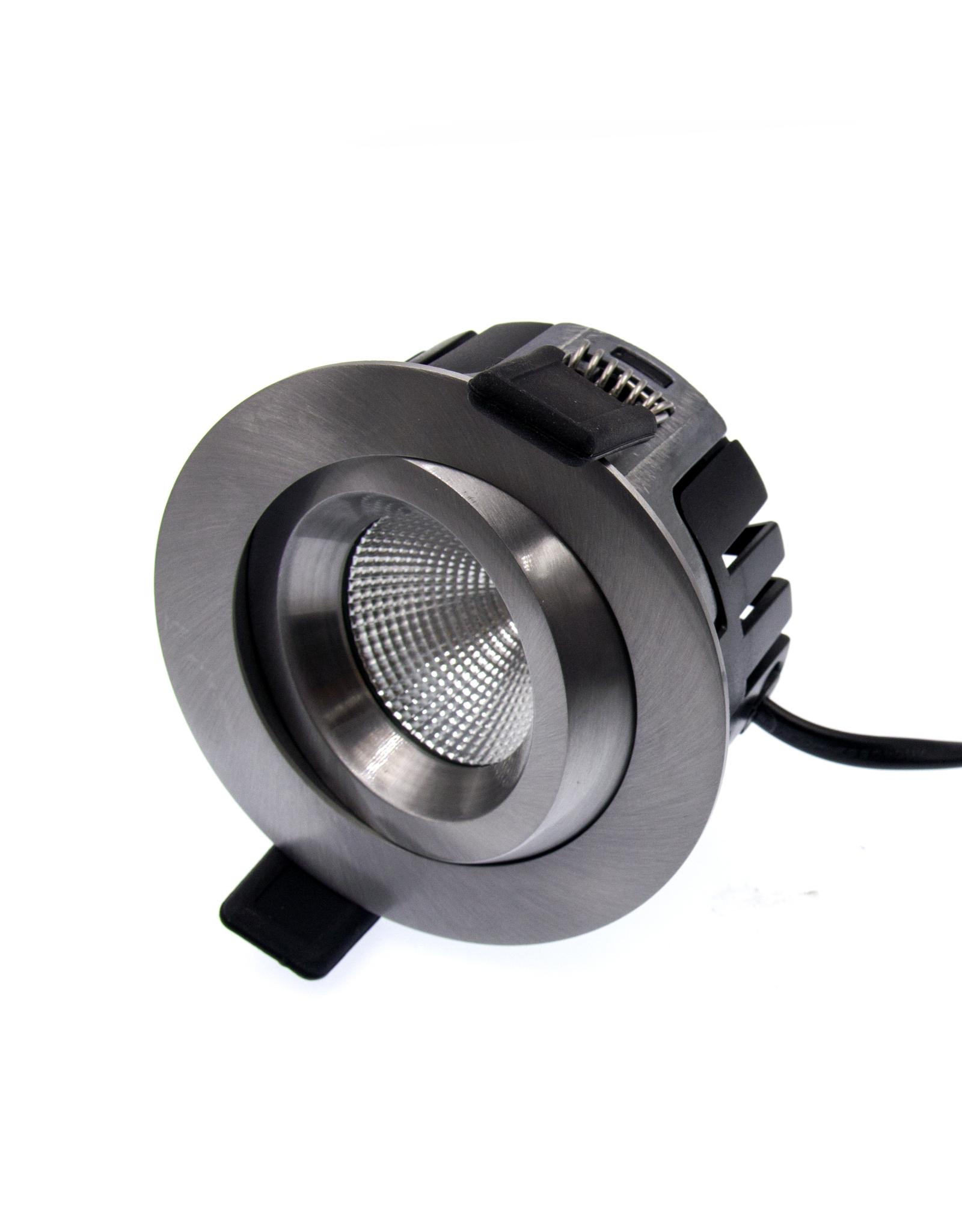 LedLed Tonny LED Kantelspot Rond RVS 2700k Dimbaar