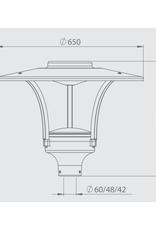 Promled Indi lantaarn lamp 30W zwart/grijs 4000k IP67
