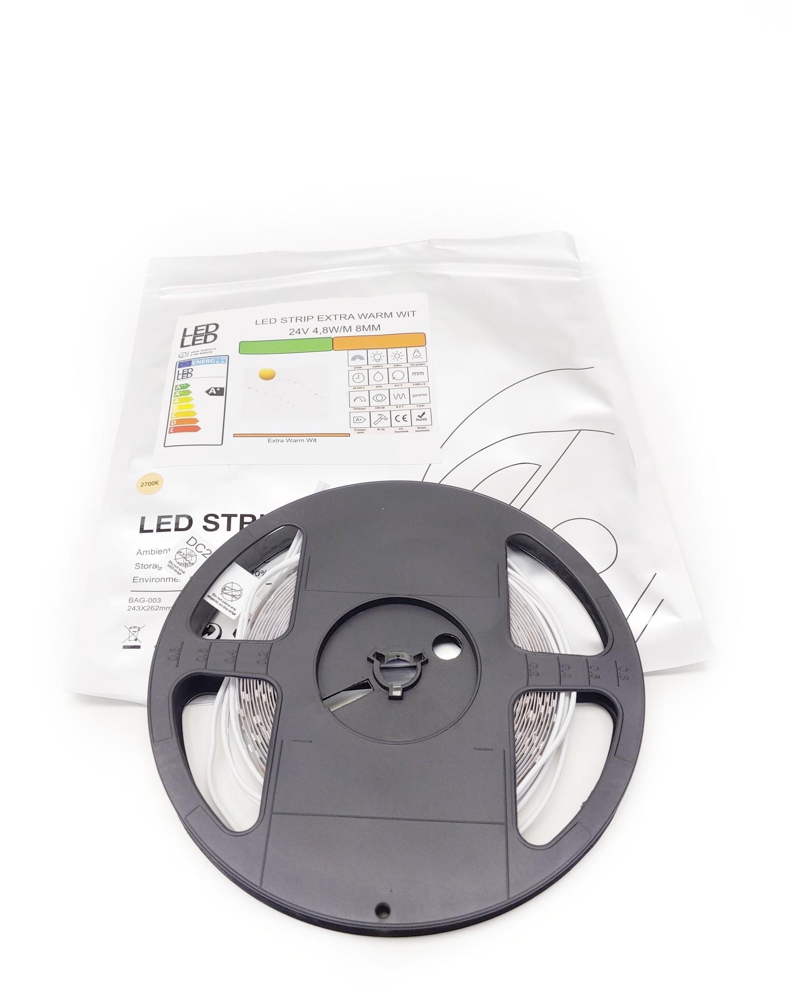 LedLed Varo led strip | 5m | 2700k | 24V | 4,8W/m | 8mm