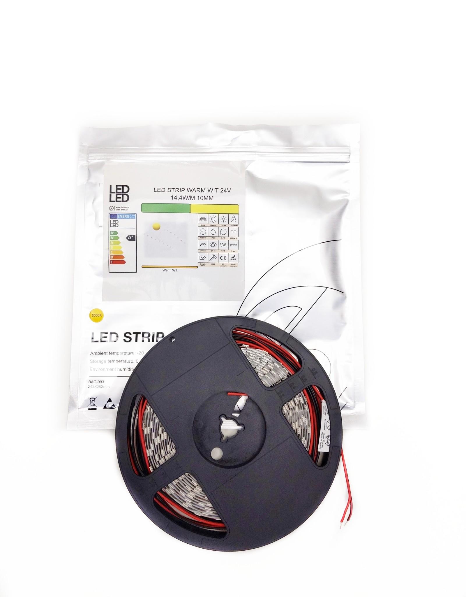 LedLed Varo led strip | 5m | 3000k | 24V | 14,4W/m | 10mm