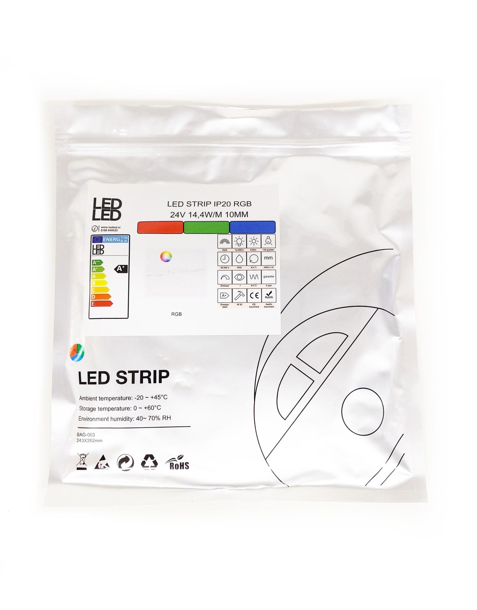 LedLed Varo led strip | 5m | RGB | 24V | 14,4W/m | 10mm