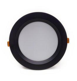 LedLed Geled Downlight Opaal Zwart 3000k 140mm 8-12W