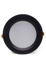 LedLed Geled Downlight Opaal Zwart 3000k 190mm 8-20W gatmaat 165mm