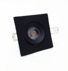 LedLed Addy led kantelspot vierkant zwart dimbaar - Interieur lens