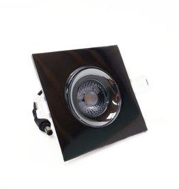 LedLed Addy led kantelspot vierkant chroom dimbaar - Interieur lens