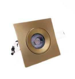 LedLed Addy led kantelspot vierkant goud dimbaar - Interieur lens