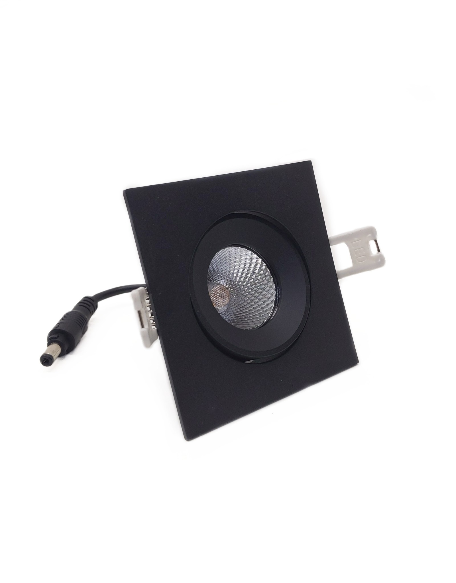 LedLed ADDY led kantelspot vierkant zwart dimbaar - Pro reflector