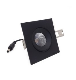 LedLed Addy LED Kantelspot Vierkant Zwart Dimbaar
