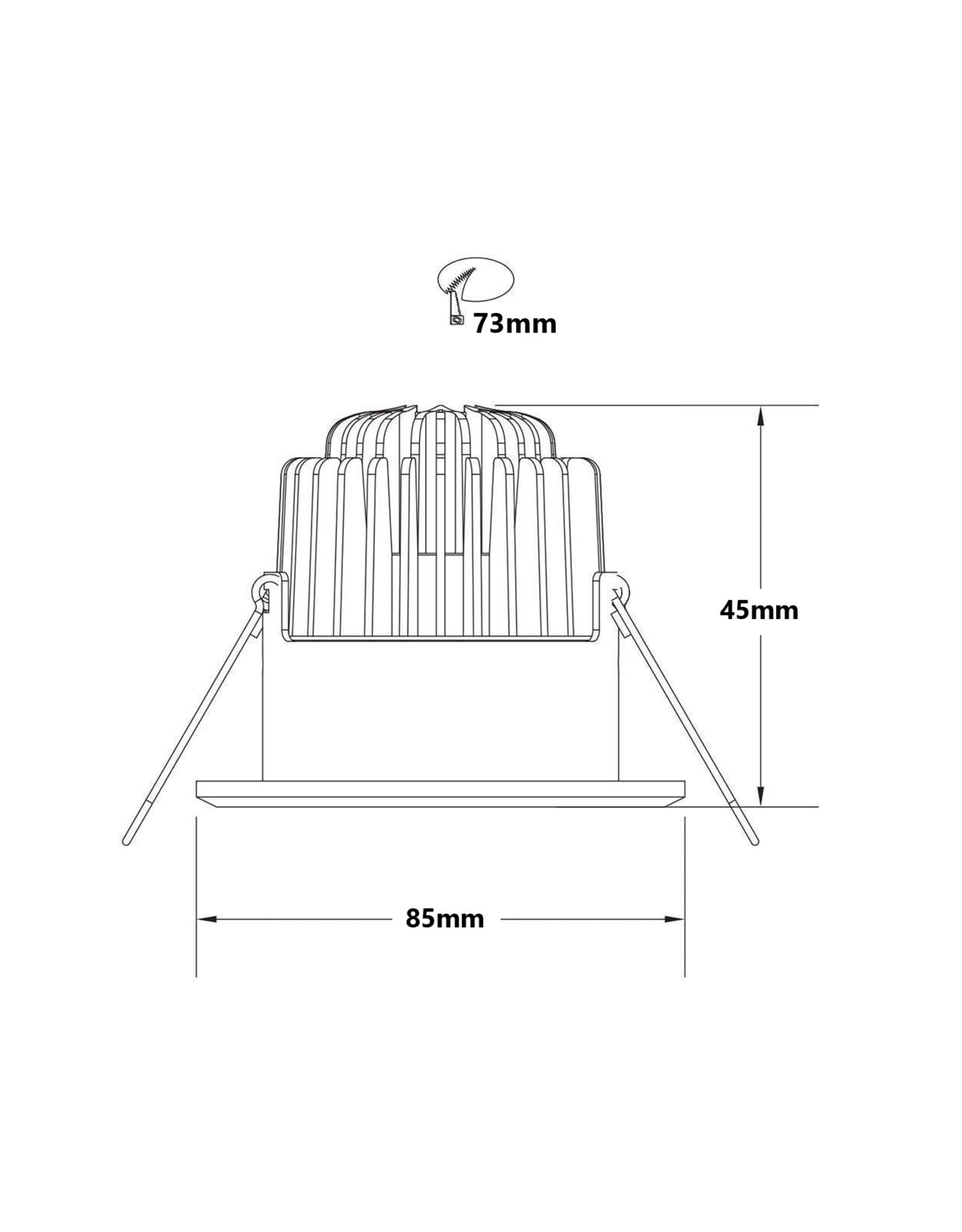LedLed Addy led kantelspot rond chroom dimbaar - Interieur lens