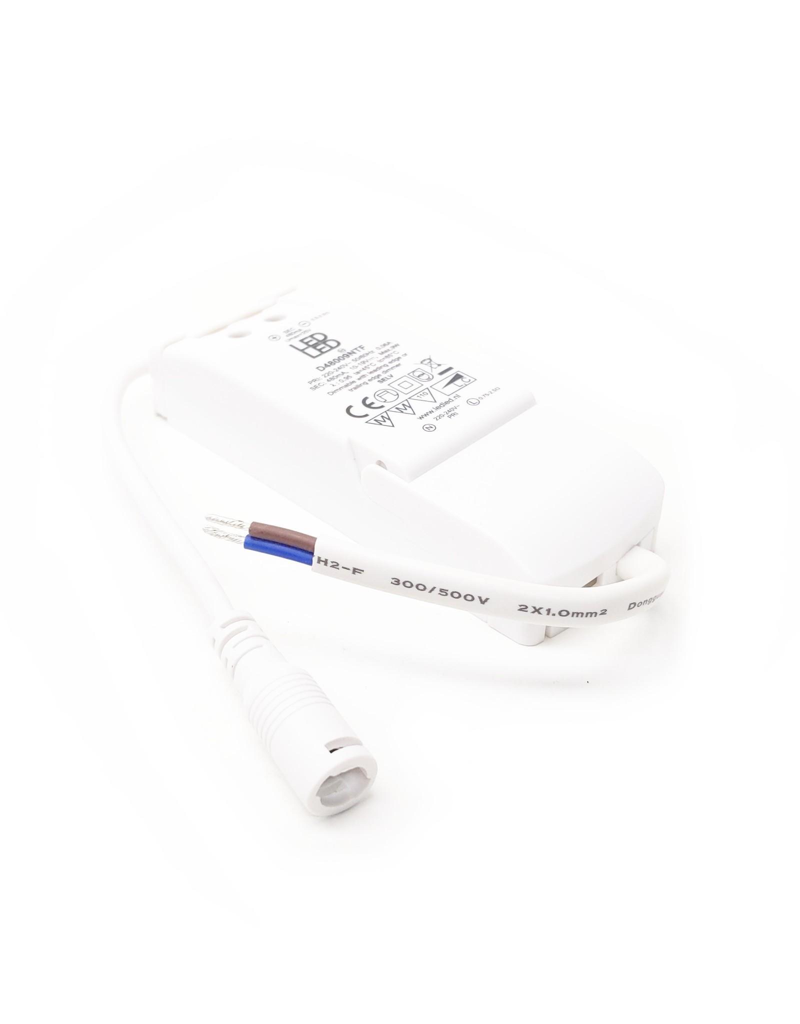 LedLed Addy led kantelspot rond wit dimbaar - Interieur lens