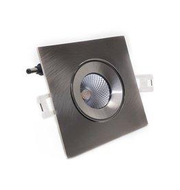 LedLed ADDY led kantelspot vierkant rvs dimbaar - Pro reflector