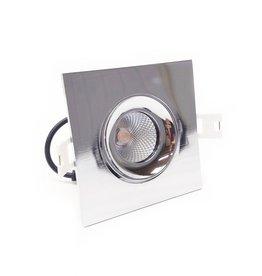 LedLed ADDY led kantelspot vierkant chroom dimbaar - Pro reflector