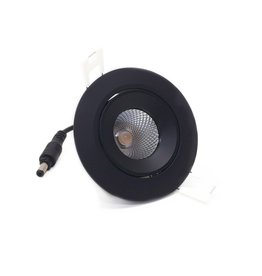 LedLed ADDY led kantelspot rond zwart dimbaar - Pro reflector