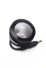LedLed Addy LED Kantelspot Rond Chroom Dimbaar