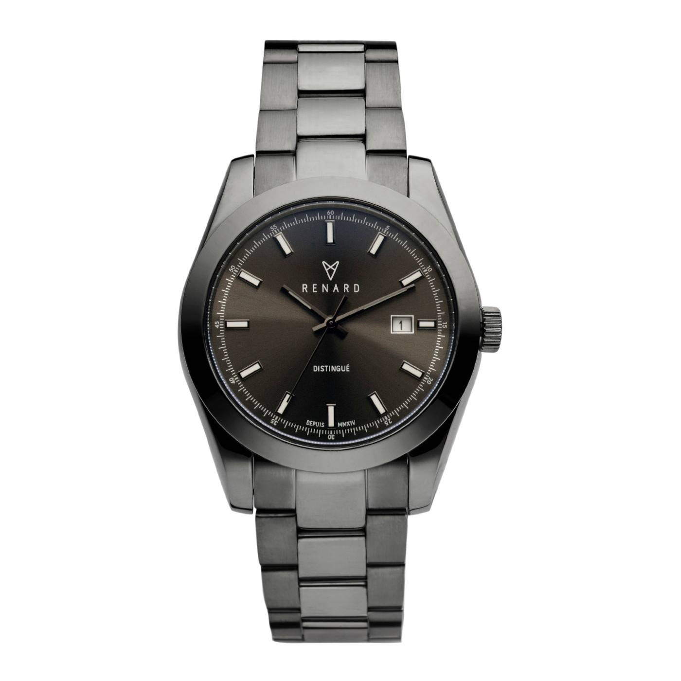 Distingué 40.0 men's watch gunmetal