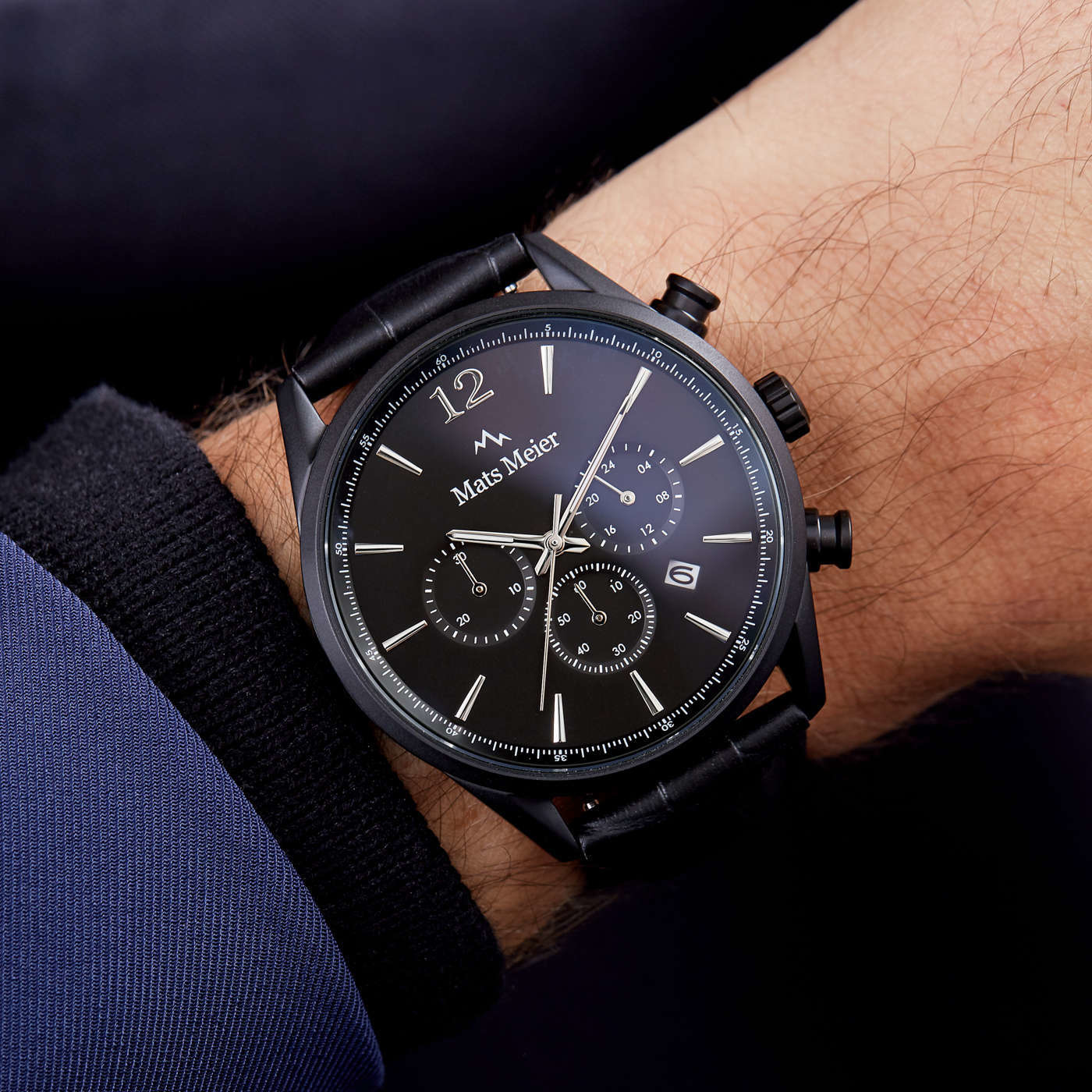 Mats Meier Grand Cornier chronograph watch matte black