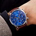 Mats Meier Grand Cornier chronograph mens watch blue / brown