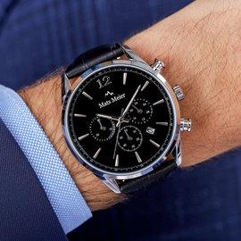 Mats Meier Grand Cornier chronograaf horloge zwart/zwart