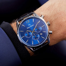 Mats Meier Grand Cornier chronograph watch blue/black