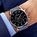 Mats Meier Grand Cornier chronograaf mesh herenhorloge zilverkleurig en zwart