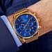 Mats Meier Grand Cornier montre chronographe bleu / maille couleur or