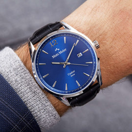 Mats Meier Castor mens watch blue / black