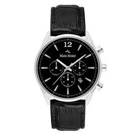 Mats Meier Grand Cornier kronografklocka svart/svart