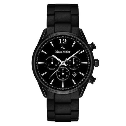 Mats Meier Grand Cornier montre chronographe mat acier noir