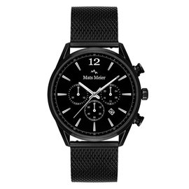 Mats Meier Grand Cornier chronograph mens watch matte black mesh