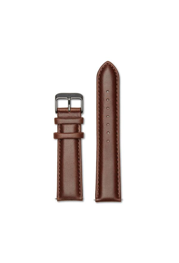 Mats Meier Läderarmband 22 mm valnötsbrunt