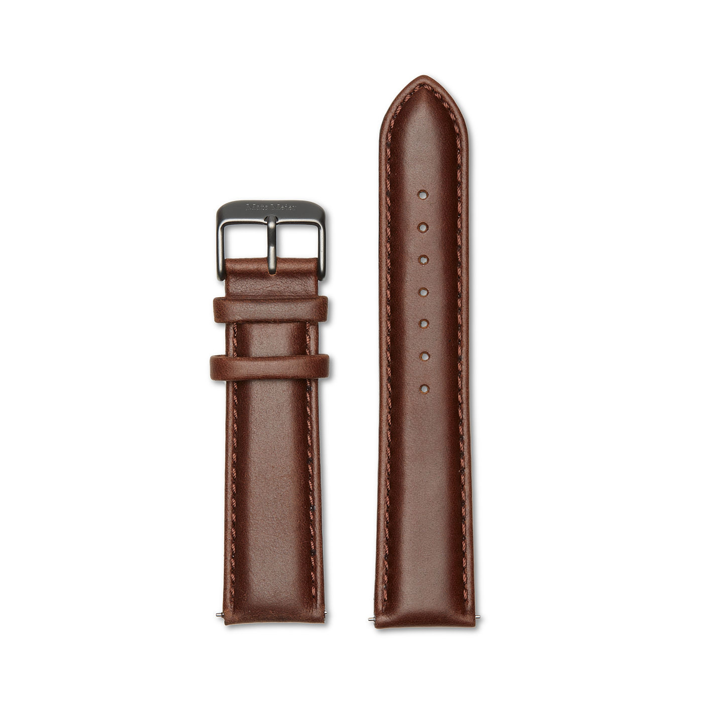 Mats Meier Leather strap 20mm walnut brown