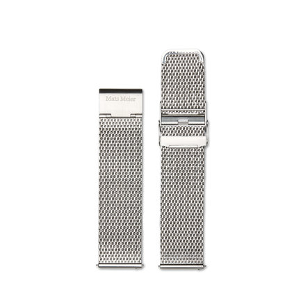 Mats Meier Uhrenarmband Mesh-Edelstahl 22mm silber