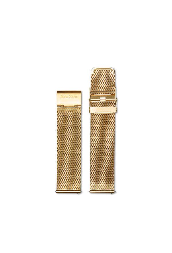 Mats Meier Cinturino in maglia da 22 mm color oro
