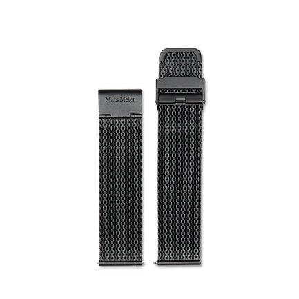 Mats Meier Castor mesharmband 22 mm svart