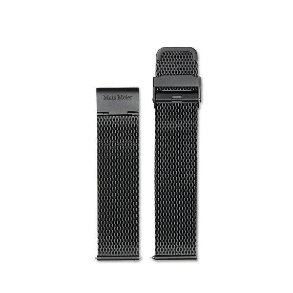 Mats Meier Castor cinturino a maglie da 22 mm nero